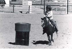 Heather running barrels
